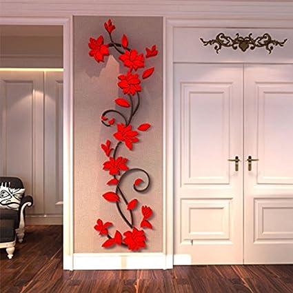 Superb Generic DIY 3D Flower Decal Vinyl Decor Art Home Living Room Wall Sticker  Removable Mural Acrylic