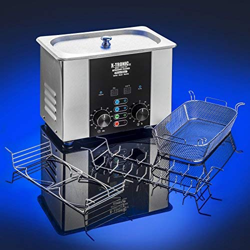 X-Tronic Model #2200-XTS 2.0 Liter''Platinum Edition'' Commercial Ultrasonic Cleaner with Time/Temp LED Displays, Sweep & Degas Controls, S/S Cleaning Basket, Wire Rack Holder & Wire Beaker Holder