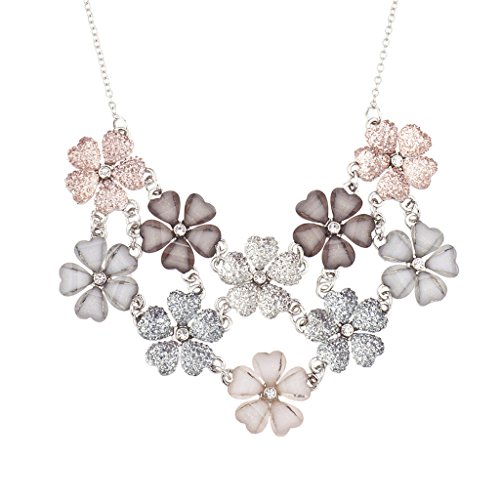 Lux Accessories Floral Statement Necklace product image