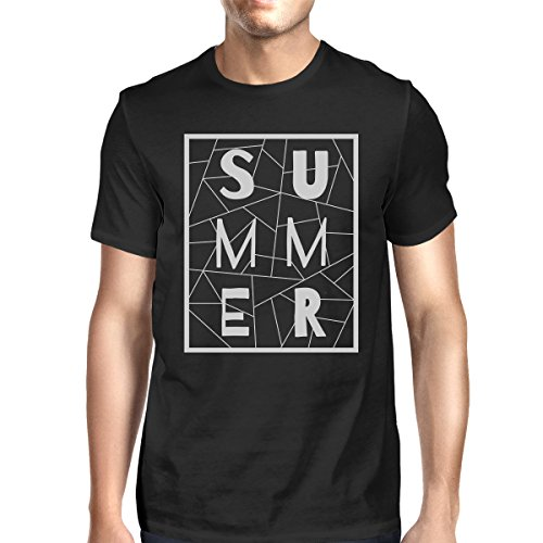 Geometric Homme shirt Unique Printing Black Taille Manches Courtes Shirt T Summer 365 Mens x4z6XZq