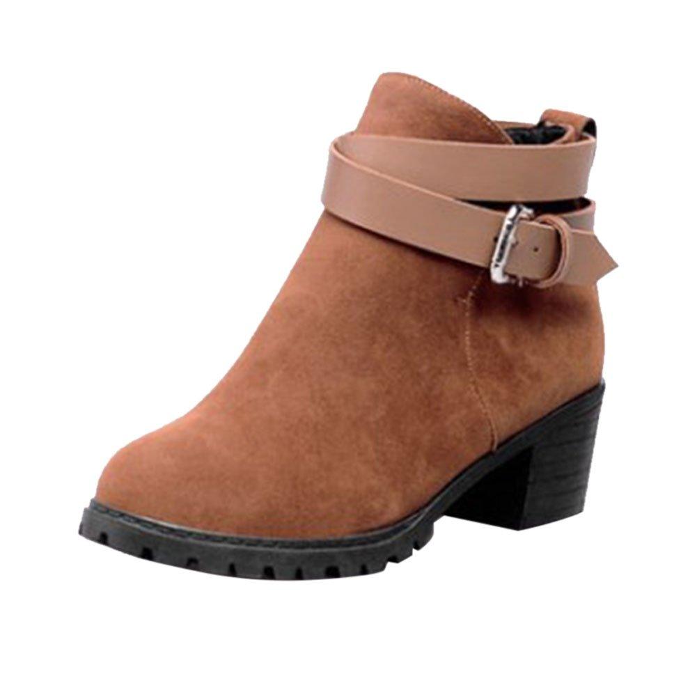 Frestepvie Confort Bottes Haut Classiques Kaki Femme Boots Bottine Courtes Ville Confort Chaussure Talon Haut Bloc Kaki c19c5f5 - piero.space