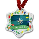 Personalized Name Christmas Ornament, North Atlantic Treaty Organization (NATO) NEONBLOND