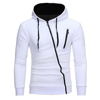 Sudaderas Hombre, Xinantime Hombres camiseta manga larga Sudaderas con cremallera 4 Colors (M,