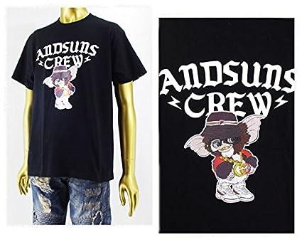 アンドサンズ ANDSUNS GET FRESH GIZMO Tシャツ メンズ AS166504GIZMO ブラック XL
