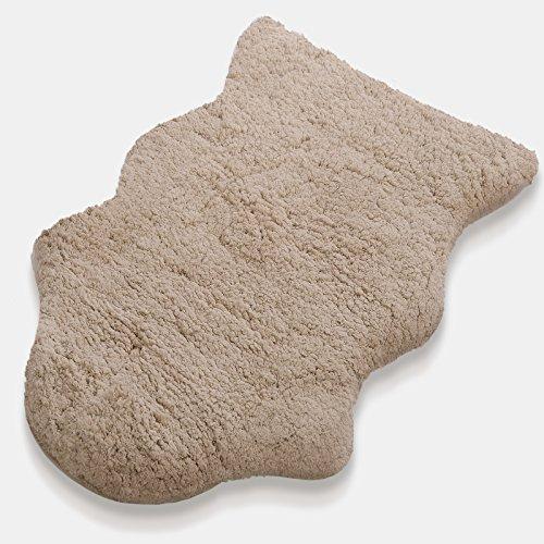 Kunstfell Teppich Maja   beige   extra weich und kuschlig handgetuftet   aus 100% Polyester   in 2 Größen erhältlich (60 x 90 cm)