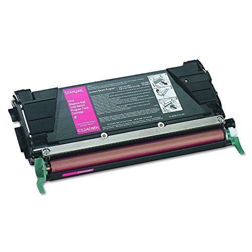Lexmark C5240MH High yield return program laser toner for lexmark c524/c532/c534, 5k yld,magenta
