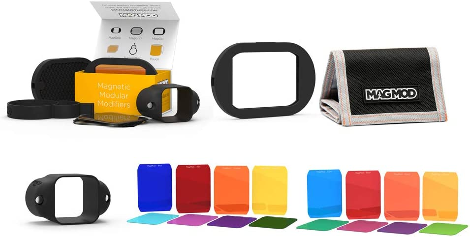 MagMod Kit de Color magnético modificador de Montaje de Goma elástica Speedlite Linterna de fotografía Accesorios de iluminación portátil Ligero Suave difusa Gel de luz (MagMod Color Kit)