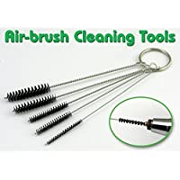 Sungpunet 1x Airbrush Supplies Pipe Tube Straw Cleaning Brush Set Cleaning Tool Washing Cleaner