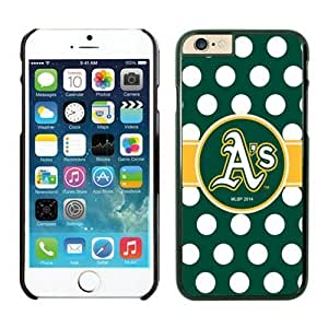 DIY Custom iPhone 6 Phone Case Oakland Athletics TPU Rubber Phone Case For Apple iPhone 6 4.7 Inch Case 2 Black by mcsharks