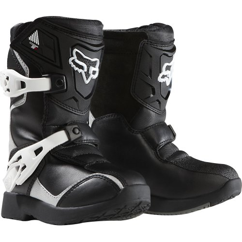 Boys Motorcycle (Fox Racing Pee Wee Comp 5K Youth Boys Off-Road/Dirt Bike Motorcycle Boots - Black/Silver/Size 13)