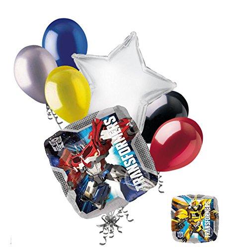 7 pc Transformers Optimus Prime & Bumblebee Balloon Bouquet Super Decoration]()