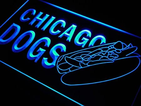 Cartel Luminoso ADV PRO s231-b Chicago Dogs Hot Neon Light ...