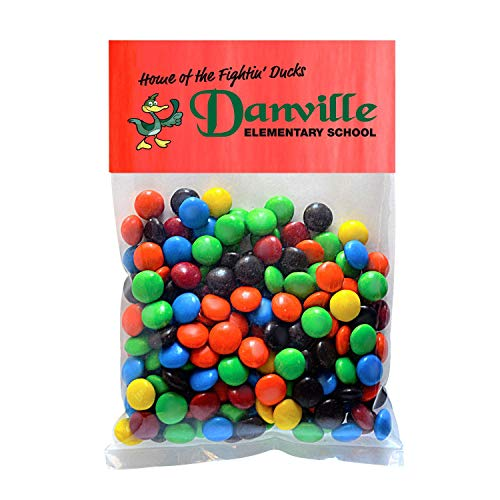 Candy Gift Pack-M&Ms with CUSTOMIZED Business Card Magnet in Large Header Pack- BULK Quantities-100, 250, 500 or 1000…