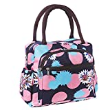Lunch Bag Lady Flower Tote Bag,Insulated Lunch Box Waterproof Insulation Leak-proof Lining With