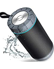Bluetooth Speakers, COMISO True Wireless Stereo Waterproof IPX4 Speaker, Enhanced Bass with 2x6W Dual-Driver, Bluetooth 4.1 with 20h Play-time
