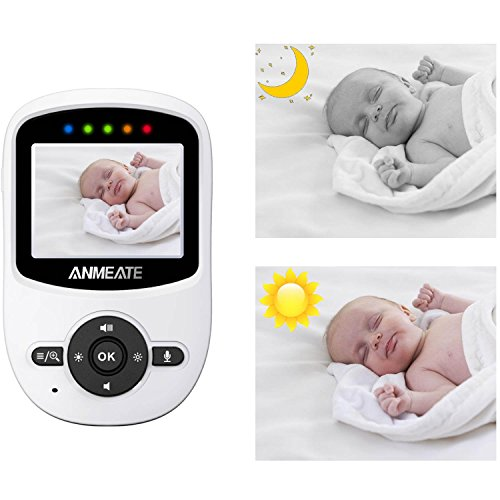 Video Baby Monitor with Digital Camera, ANMEATE Digital 2.4Ghz Wireless Video Monitor with Temperature Monitor, 960ft Transmission Range, 2-Way Talk, Night Vision, High Capacity Battery
