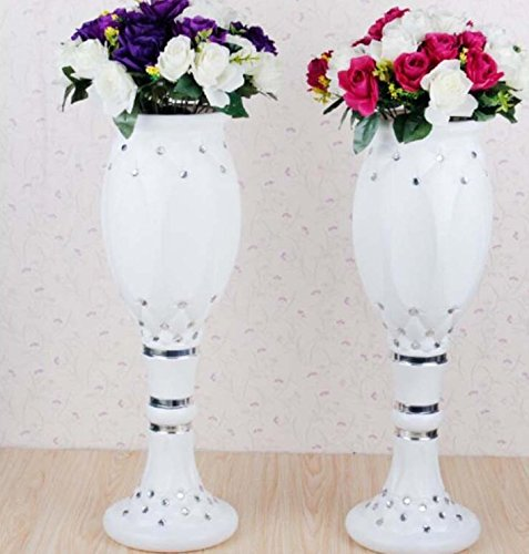 LB 4pcs Height Adjustable Plastic Roman Column Studio Photography Prop Wedding Decorative LMZ003 by LB