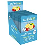 Cal-Mag Vites Stress Reducing Formula | NEW! Strawberry-Lemon Flavor (30 powder packets) Calcium Magnesium Drink Mix | Dr. Price's Vitamins | No Sugar, Non-GMO, Gluten Free & Vegan