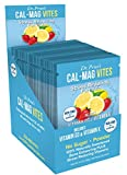Cal-Mag Vites Calcium Magnesium Powder for Men and Women | Vitamin K, D, Mineral Supplement | Natural Calming Stress Relief Drink | Strawberry-Lemon 30 Packets | Dr. Price's Vitamins, No Sugar Non-GMO