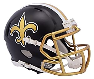 New Orleans Saints Riddell Speed Mini Helmet - Blaze Alternate
