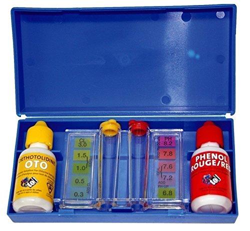 Toi 4861 - Kit medidor de Ph y cloro para piscinas, 47 x 37 x 2 cm, color azul