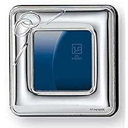 STERLING SILVER ALARM CLOCK . Made in Italy (2 RINGS DESIGN)