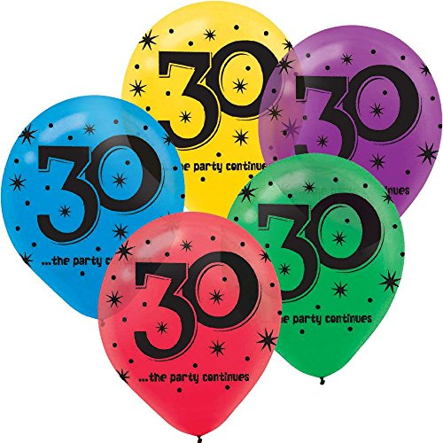 30th Birthday Party Balloons - 15 -
