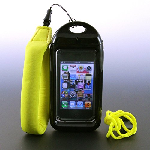 New Wave III/Tide Waterproof Smartphone Case with FREE Floating Wrist Lanyard ($12.95 Value) and Free Neck Lanyard for HTC, Motorola, Some Samsungs & Larger Smartphones - Black (Fits Phones Measuring Up to 4.88 x 2.7 x .55 Inches)