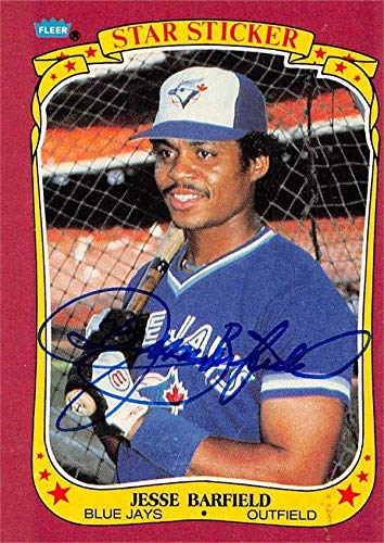- Jesse Barfield autographed Baseball Card (Toronto Blue Jays) 1986 Fleer Star Stickers #2 - Baseball Slabbed Autographed Cards