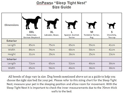On Paws Sleep Tight Nest Negro Gris, tamaño M (55cm x 25cm): Amazon.es: Productos para mascotas
