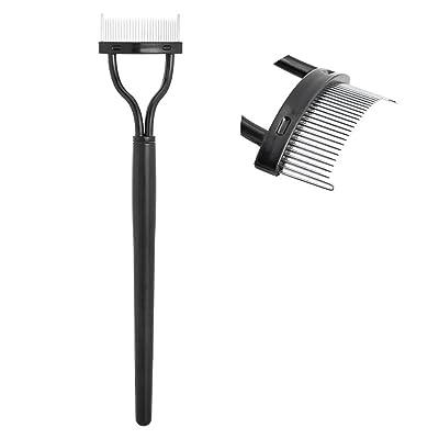 Muranba 2020 ! Eyelash Comb Lash Separator Mascara Lift Curl Metal Brush Beauty Makeup Tool Black: Clothing