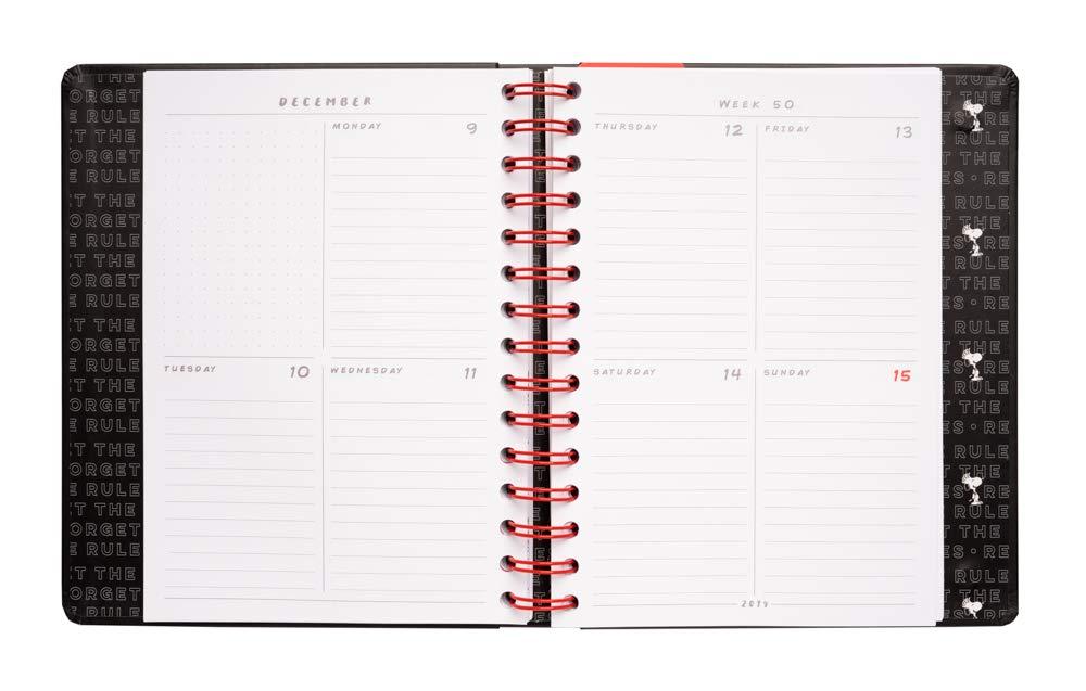 Agenda 2020 semana vista Premium Snoopy, 17 meses
