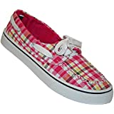 DAWGS Women's PP Boat Shoe, Plaid in Pink, 6 M