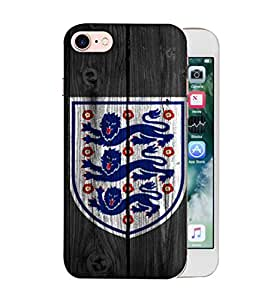 ColorKing Football England 16 Black shell case cover for Apple iphone 8
