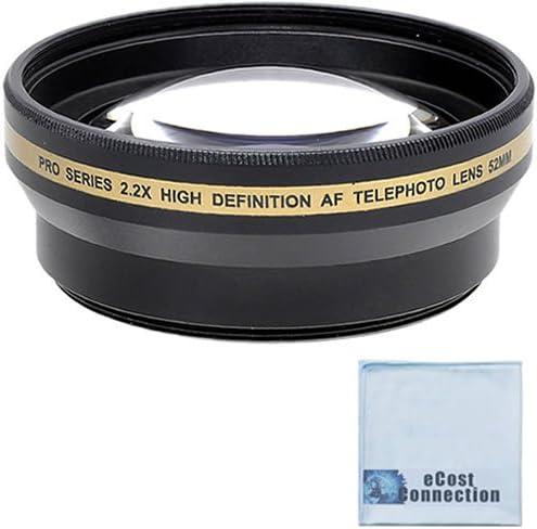 Pro series 52mm 2.2x High Definition AF Telephoto Lens AF NIKKOR 20mm 2.8D AF-S DX Micro NIKKOR 85mm 3.5G ED VR and Other Models Microfiber Cloth For Nikon 55-200mm 4-5.6G ED AF-S DX Autofocus Lens
