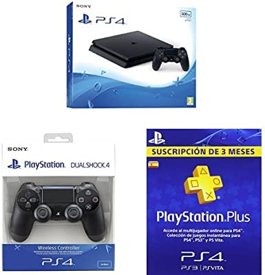 PlayStation 4 Slim (PS4) - Consola de 500 GB + DualShock 4 Negro ...