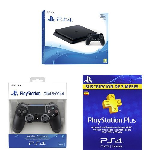 PlayStation 4 Slim (PS4) - Consola de 500 GB + DualShock 4 ...