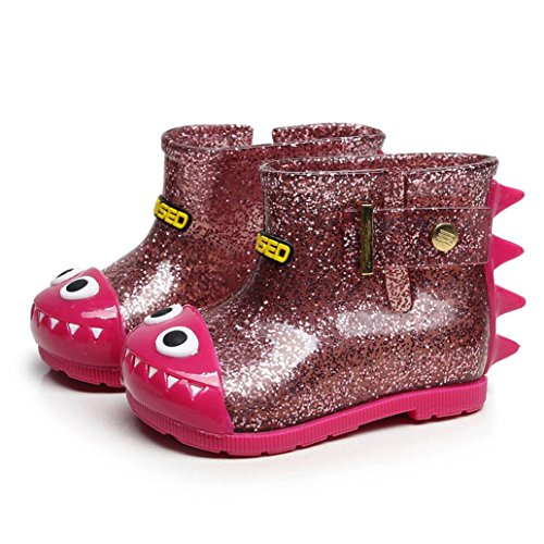Hunpta Wasserdichte Kind Shark Rubber Infant Baby Regen Stiefel Kinder Kinder Regen Schuhe Hot Pink