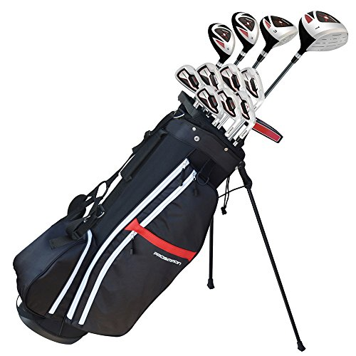"Prosimmon Golf X9 V2 Tall +1"" Mens Graphite/Steel Golf Club Set & Bag - Stiff Flex"