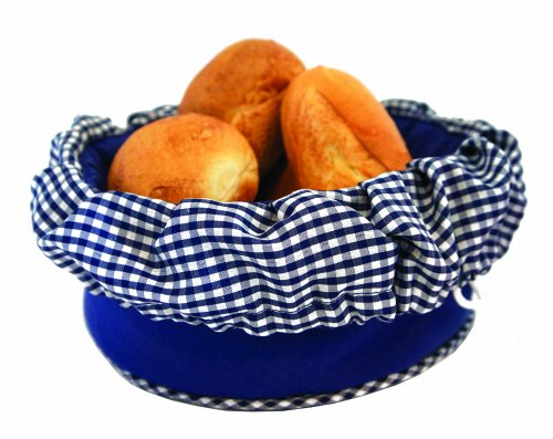 Bun Warmer - Insulated Bun and Bread Warmer and Basket - Keeps Warm for up to One Hour - Bread Baskets Blue