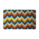 Mewisx Navajo Southwest Native American Geometric Print Doormat Anti-Slip Entrance Mat Floor Rug