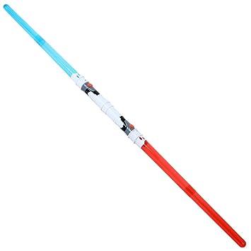 2 en 1 Espada láser Doble Sable de luz divisible 138 cm con Sensores de movimiento
