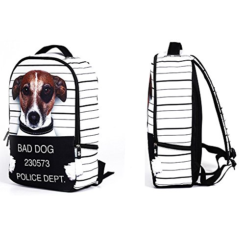 Daypack Tofern Teenage dog Cool Bag Trip For Laptop Outdoor Animal Printed School Backpack Leisure dog Personalized Shoulder Skulls aawqOxZf