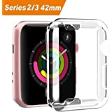 Apple Watch 3 Case, iWatch 42mm Screen Protector TPU All-around Protective Case 0.3mm HD Clear Ultra-thin Cover for 2017 New Apple Watch Series 3 series 2