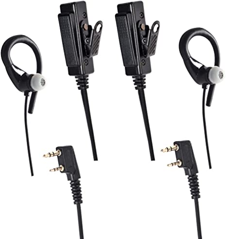 Soft Ear Hook Earpiece 2 Pin PTT  w//Mic Headset for UV-5R 888S 777S 666S BaoFeng