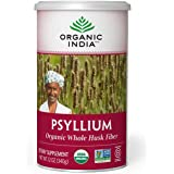 Organic India Psyllium Herbal Powder - Whole Husk Fiber, Healthy Elimination, Keto Friendly, Vegan, Gluten-Free, USDA…