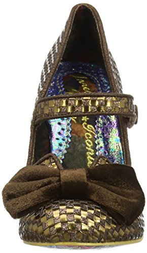 Irregular Choice Fancy This - Tacones Mujer Marrón - Brown (Bronze)