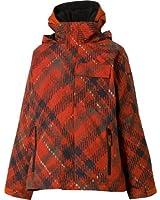 Columbia Big Boys' Jagged Peak Everyday Winter Jacket Youth 4-5 Flame Plaid