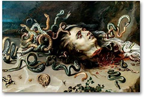 Premium - Lienzo de tela (90 cm x 60 cm, horizontal, diseño del calendario Peter Paul Rubens Rubens, imagen sobre bastidor, imagen sobre lienzo: Medusa (CALVENDO);CALVENDO Arte