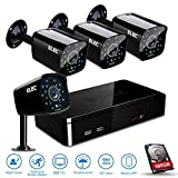 Cheap ELEC 4 HDMI CCTV 1500TVL 1.0MP Bullet Cameras 960H 8 Channel Security Camera System with 320GB Hard Drive (Black)